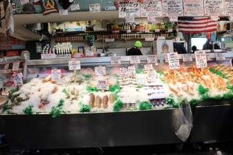 Seafood choices at Public Market